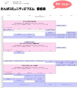 リスナー向け番組表(Basic)